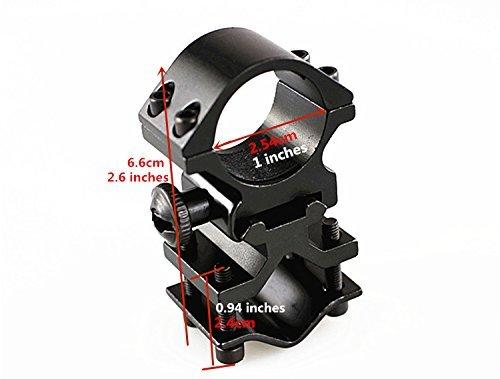 FIRECLUB Lampenhalterung , Zielfernrohr Montage für Optik 20 mm Picatinny