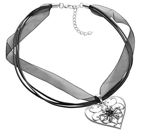 dressforfun 302921 Halskette Almrausch, in der Länge verstellbar, für Oktoberfest & Trachten Party