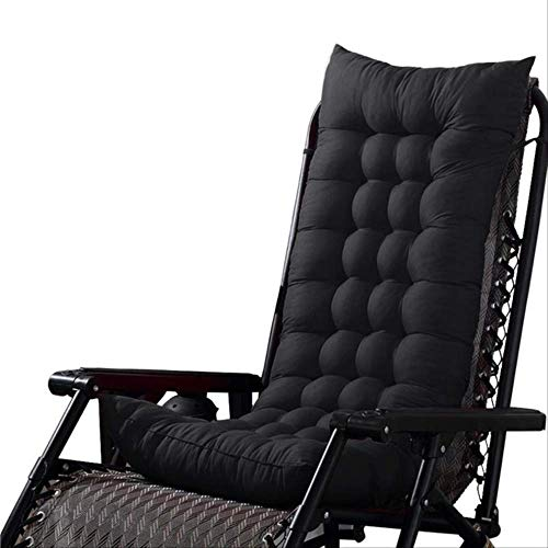 tonywu Universal Recliner Rocking Chair Mat, Superior Comfort And Softness, Reduces Pressure, For Chair Tatami Mat Lounger Recliner Cushion Pad 48X155cm black