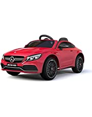 RaceWinner Mercedes C63 AMG Lisenced 12v EVA Ride on Kids Electric Car With Remote RED