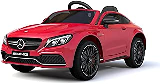 RaceWinner AMG C63 AMG Lisenced 12v EVA Ride on Kids Electric Car With Remote RED