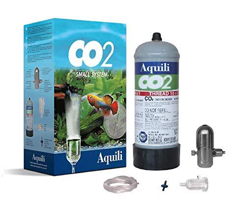 Aquili CO2SMALL Co2 Small System Riduttore A Pistoncino, Bombola USA E Getta 300 Gr, Diffusore Plastica