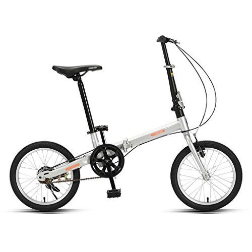 Zxb-shop Bicicleta Plegable Unisex Plegable Bicicletas for Adultos Hombres y de Mujeres Ultra-portátiles Ligeros Neumáticos 16 Pulgadas