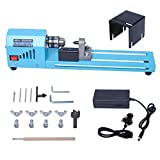 Mini Lathe Beads Polisher Machine by Poweka, Mini Wood Lathe Woodworking DIY Drill Polishing Standard 7 Speed