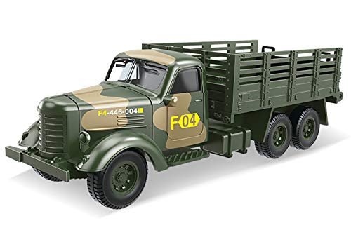 Foanerwi Kids Army Transport Truck Spielzeug, Kinder simulieren Legierung Pull Back Car Bildungsspielset, so tun, als ob Kinder Krieg und Action-Spielzeug Militäranzug Modell Dekoration