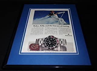 Jean Claude Killy 1986 Rolex Watches 11x14 Framed ORIGINAL Advertisement