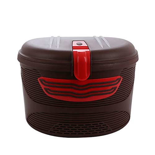 Lesrly-Cycle Bicycle Basket, Anti-Theft Bike Front Basket with Lid, Bicycle Front Storage Basket, Suitable for Most Road/Commuter Bikes,Maroon
