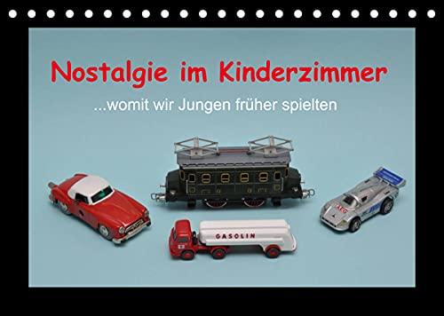 Nostalgie im Kinderzimmer - womit wir Jungen früher spielten (Tischkalender 2022 DIN A5 quer): Jungenspielzeug aus verschiedenen Jahrzehnten (Monatskalender, 14 Seiten ) (CALVENDO Hobbys)