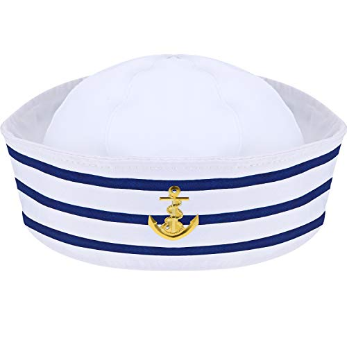 Sailor Hat Navy Yacht Captain Hat Blue with White Sail Hat for Costume Accessory (1 Pack)