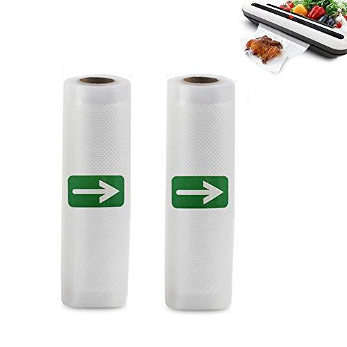 Sacchetti per Sottovuoto 2 Rotoli15x500cm Sottovuoto Sacchetti Alimenti per Macchina Sottovuoto Alimenti Senza BPA, Sous Vide e FDA Approvati per il Risparmio di Cibo (2 Rotoli 15x500cm)