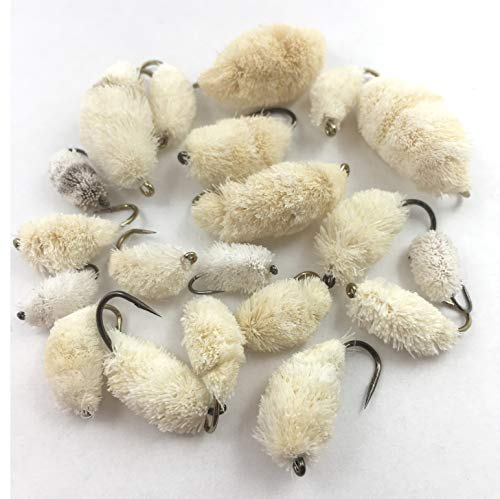 BestCity Fly Fishing carp Barbless Bread flies sizes 4 12 pack of 20