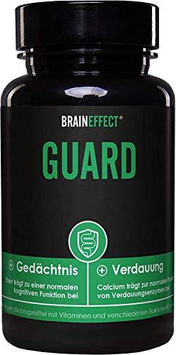 BRAINEFFECT GUARD - Darmsupport mit Bakterienkulturen, Calcium & Eisen - 60 Kapseln - Vegan - German Quality