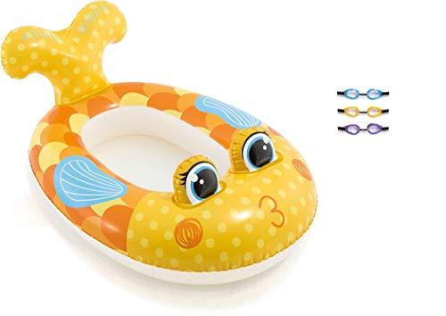 Bavaria Home Style Collection Aufblasbares Babyboot Kinderboot Schlauchboot Boot Pool-Cruiser Schwimmsitz Schwimmboot Wasserspielzeug Flugzeug Auto Fisch (Boot Fisch)