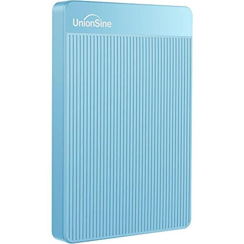 UnionSine Ultra Slim Disco Duro Externo Portátil 2.5' 1TB, USB3.0 SATA HDD Almacenamiento para PC, Mac, MacBook, Chromebook, Xbox, PS4 (Color Azul) HD-006
