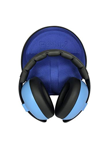 Baby Banz Earmuffs CASE - Protective Premium Hard EVA Case - Holds BANZ Baby Size Earmuffs and Bluetooth Baby Headphones
