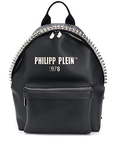 Philipp Plein Moda De Lujo Hombre S20AMBA0887PLE053N02 Negro Cuero Mochila | Primavera-verano 20