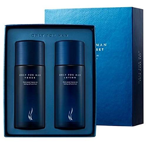 Korea Kosmetic, AHC Only For Man Skin Care Set, Skin Toner 150ml / 5.3 Fl Oz + Lotion 150ml / 5.3 Fl Oz 1 Set