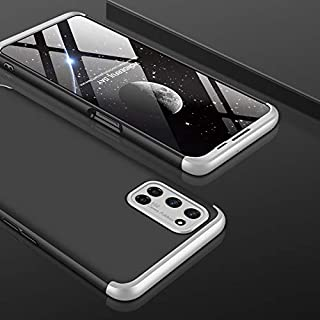 AKDSteel Anti-Drop Protective Shell for O-PP-O A52/A72/A92 Mobile Phone Cover 360 Degree Full Protection Phone Case Silver...