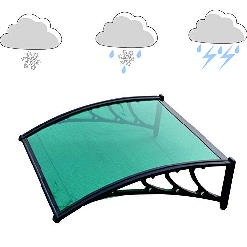 WXQIANG Markise Regen Türvordach Fenster Eaves Klimaanlage Regenschutz Silent-Smash-Proof Schlagfestigkeit Winddichtes Anpassbare PC Endurance Brett (Color : A, Size : 60X80CM)