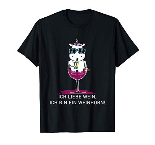 Einhorn WEINHORN Weintrinker Wein Junggesellinnenabschied T-Shirt
