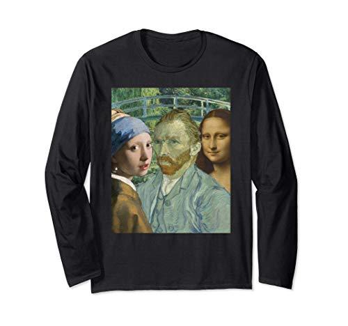 Leonardo Da Vinci Johannes Vermeer Van Gogh's Popular Art Langarmshirt