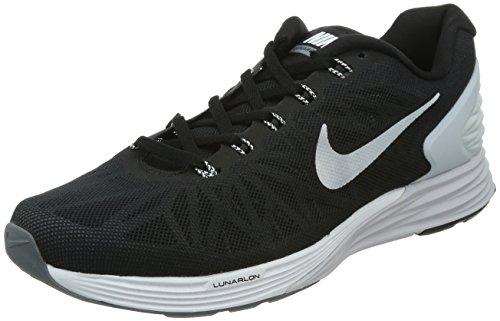 Nike Lunarglide 6 Men's Running Sneaker (Black/White/Pr Platinum/Cl Grey, 12 D(M) US)