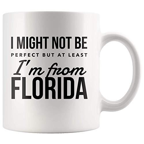 Vengo uit Florida Florida kan niet perfect zijn, maar ik kom ten minste uit Florida USA Pride Gift nieuwigheid keramische mok glanzend
