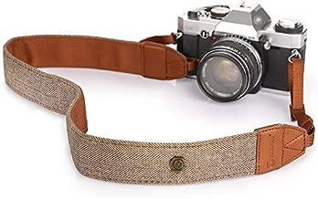 TARION Camera Strap Adjustable DSLR Camera Neck Strap Belt Retro Film Camera Shoulder Strap Vintage Soft Long Rope Universal Cord for Women Men SLR Mirrorless Cameras Simple Brown(Upgraded Version)