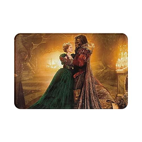 Beauty Beast Alfombra suave y cómoda para salón y dormitorio, hecha de tela de franela de alta calidad, 39,8 x 59,7 cm