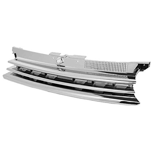 ZDNB Front Grille For Bora Mk4 1999 2000 2001 2002 2002 2003 2004 2005 Front Bumper Grill Radiator Grille (Color: Silver)