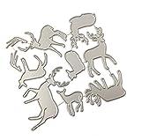 Exing Weihnachts-Schablone, Schablone, DIY Scrapbooking, Prägung, Dekoration, Papier 116x110mm/4.56x4.33in silber