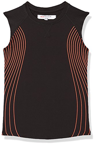 RED WAGON Sleeveless, Sport Top para Niñas, Negro (Black), 6 Años