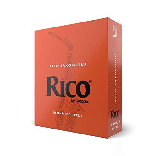Confezione da 10 ance Rico per sassofono contralto, durezza 2,5