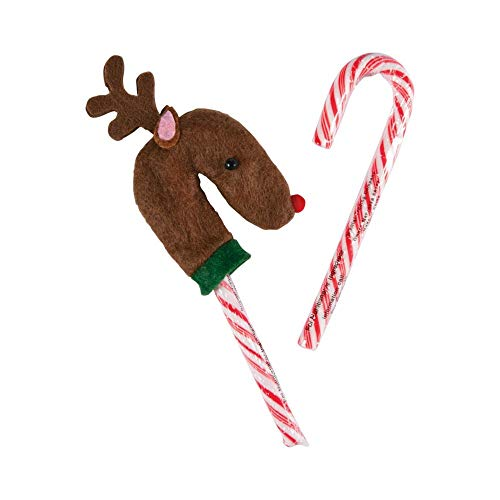 REINDEER CANDY CANE COVERS - Home Decor - 12 Pieces
