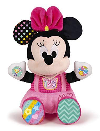 Clementoni 59134 Disney Baby – Minnie Kuscheln und Lernen, Motorikspielzeug aus Plüsch für Kleinkinder, Kuscheltier zur Förderung von Entwicklung & Spracherwerb