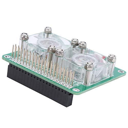 Ventilador de refrigeración Dual Raspberry Pi 3A + 3B 3B + 4B Disipador de Calor Transparente Aspberry Pi Radiador Inteligente Inteligente para Raspberry Pi 3A + 3B 3B + 4B