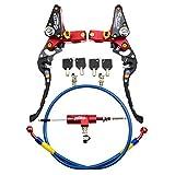 WOOSTAR 22mm Moto CNC Hydraulique Embrayage Kit De Pompe De Frein Levier Maître-Cylindre Tricot Tuyau D'huile pour Moto Dirt Bike ATV Rouge