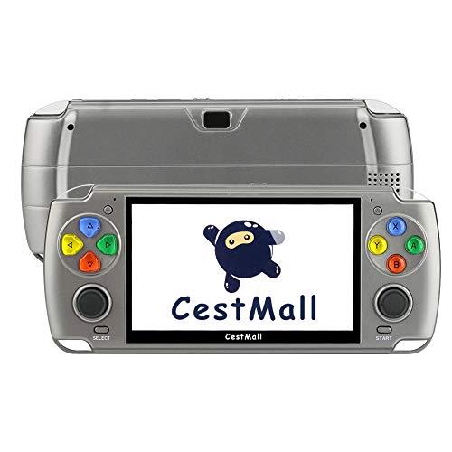 Consola de Juegos portátil 5.1 '' Consolas de Juegos Retro para niños con Juegos Integrados Consola de Videojuegos portátil 2800mAh Recargable Pocket Game Cosole con Tarjeta TF de 32GB, Cable HDMI