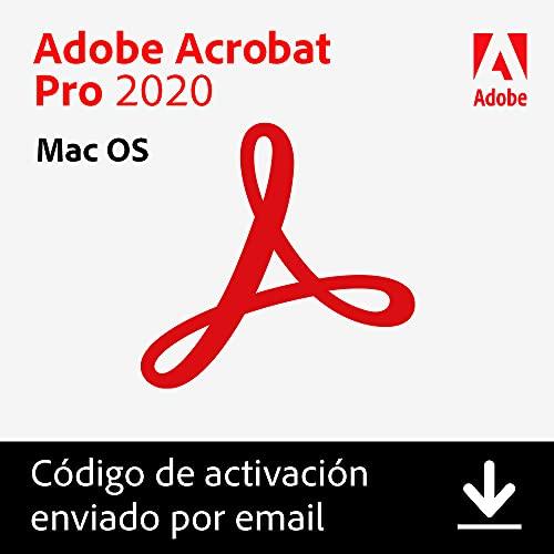 Adobe Acrobat | Pro | 1 Usuario | Mac | Código de activación Mac enviado por email