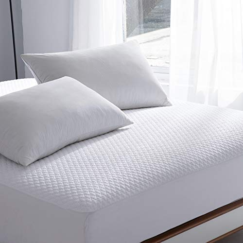 Queen Bed Size Waterproof Mattress Protector, Cooling Fitted Mattress Pad Cover, up to 18 Deep Pocket, 3D Air Fabric