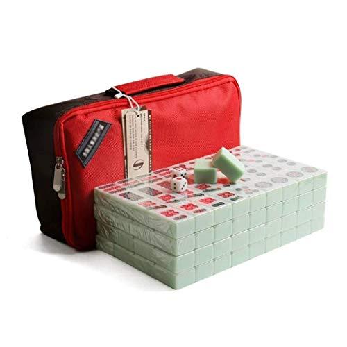 SEESEE.U Mahjong Chino, Juego de Mesa, Juegos de fichas con Paquete, 144 Juegos de Mahjong Tradicionales Chinos para la Mano, 40, 42, 44 para Fiesta, Entretenimiento (Color: Bolso, tamaño: 40)