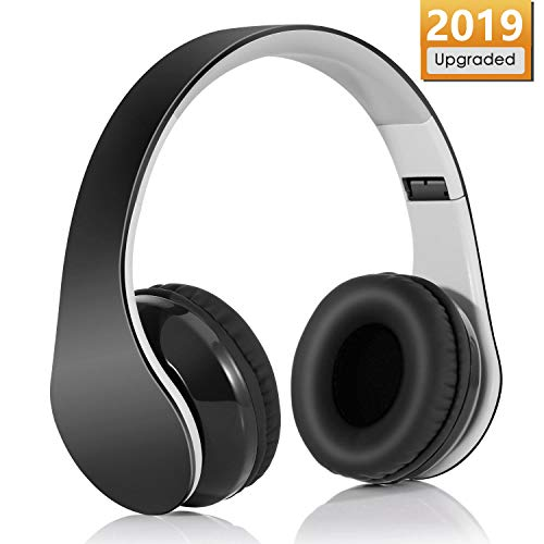 Auriculares Inalámbrico Diadema, Bluetooth 4.1 Plegable Hi-Fi Estéreo Con 3.5 mm Audio Jack Con Micro Para Smartphone Y Tableta(Negro)