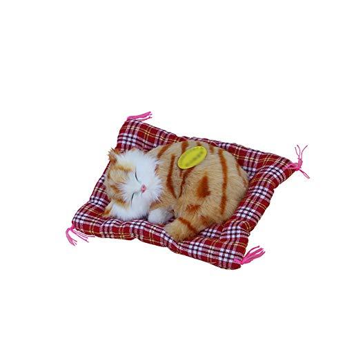 Gobesty Kinderspielzeug Plüschtiere, Simuliertem Ton Katze Kuscheltier, Plüschtier Spielzeug mit Weichem Mattenbett, für Kinder Erwachsene Geschenke