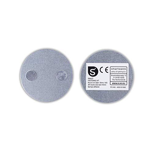 Smartwares Magenthalter für Rauchmelder/ Magnetbefestigungsset für Mini Rauchmelder, RMAG3