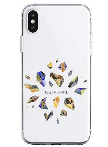 Oihxse Funda Dibujos Diamantes Brillantes Compatible Xiaomi Mi 9 Lite Transparente Silicona TPU Bumper Case Ultra Delgado Crystal Clear Anti-Choques Carcasa Protectora Cover(A4)