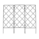 Get DOITOOL Garden Trellis for Climbing Plants, Foldable Plants Support Lattice Fence Metal Plant Support Frame for Climbing Roses Vines Flower Vegetable Just for $21.49
