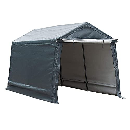 Abba Patio Outdoor Storage Shelter with Rollup...