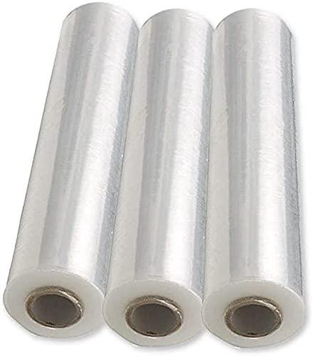 FitYo - Rouleau de Film Plastique Etirable & Transparent - Résistant, pour Emballage et Palettes - Protège & Maintient vos Envois - 490 mm x 200 mètres, Epaisseur de 23 Microns - 3 Rouleaux