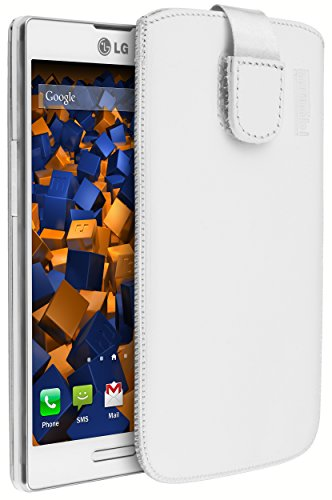 mumbi Echt Ledertasche kompatibel mit LG L90 Hülle Leder Tasche Hülle Wallet, schwarz