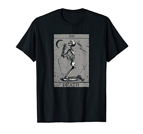 Death Tarot Card - Praying Skeleton Okkultes T-Shirt Horror
